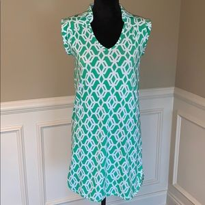 Macbeth Collection Patterned Shift Dress